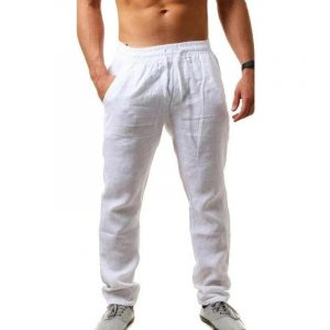 Cotton Linen Pants Male Summer Breathable