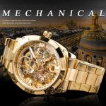Transparent Retro Men's Automatic Mechanical Watch Top Brand Luxury Full Golden