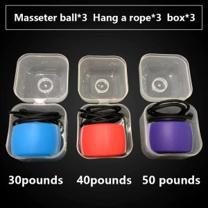 Fitness Face Masseter men facial pop n go mouth jawline Jaw Muscle Exerciser
